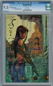 Witchblade #25 Michael Turner Speckle Foil Variant CGC 9.8 Image Top Cow comic book